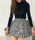 Inner pants set glenn check flare mini skirt