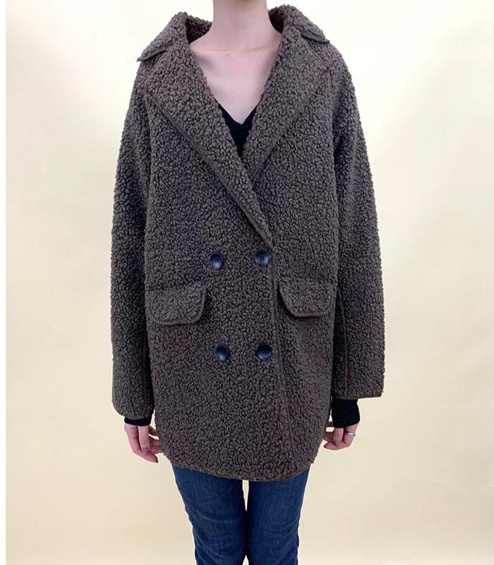 ボアブルゾンジャケットコート