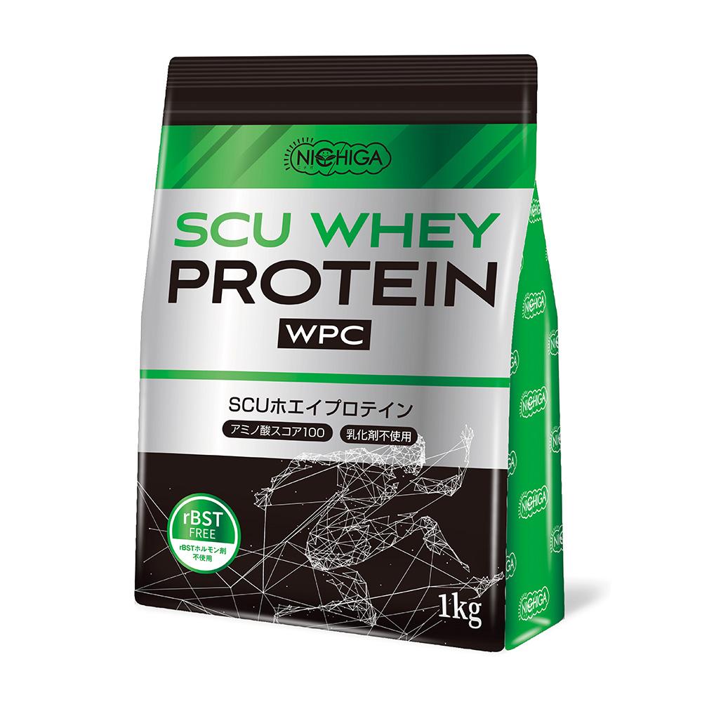 <シェイカー セット> SCUホエイプロテイン 1kg WPC ハイスペックプロテイン 牛成長ホルモン不使用 [02] NICHIGA(ニチガ)