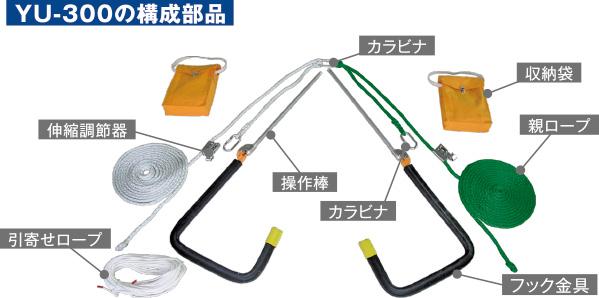 【送料無料】【藤井電工】 屋根上作業用安全器具 ヤネロップYU-300 【ツヨロン安全帯】