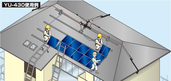 【送料無料】【藤井電工】 屋根上作業用安全器具 ヤネロップYU-430 【ツヨロン安全帯】