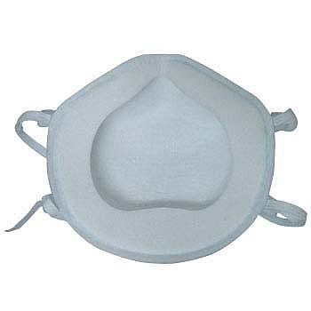 興研マスク 使い捨て式防塵マスク ハイラック350型-DS2 2本ひも式 (10枚入) 【粉塵/サカイ式/作業/工事/医療用/PM2.5/花粉対策】