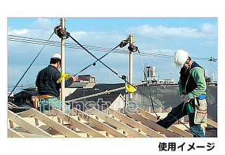 【送料無料】藤井電工安全帯/ツヨロン 安全屋根支柱用心棒 YM-100 【屋根上作業用/ベルト】