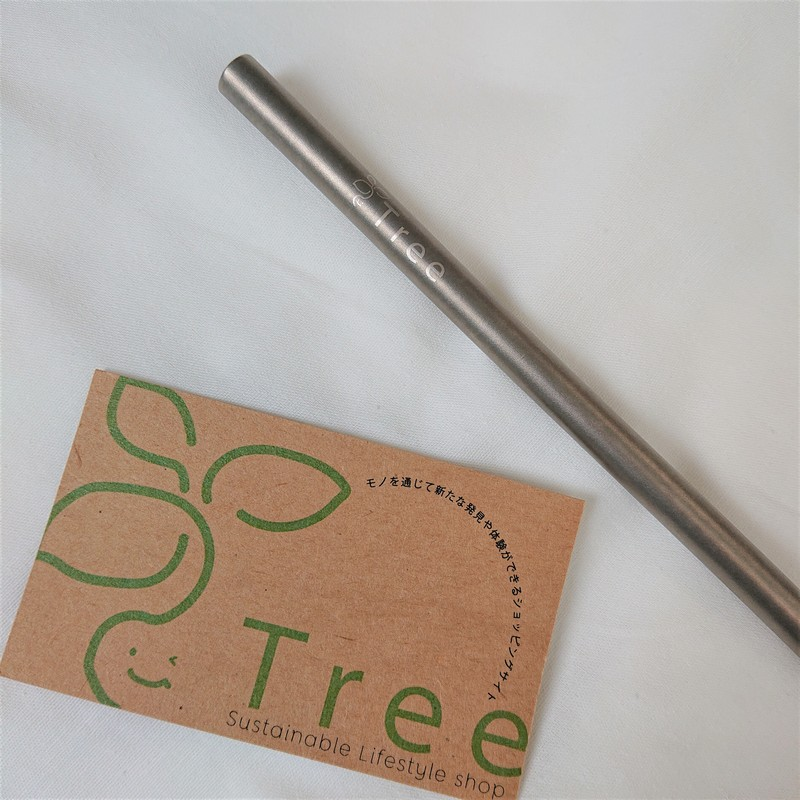 Tree × Deleau オリジナルチタンストロー