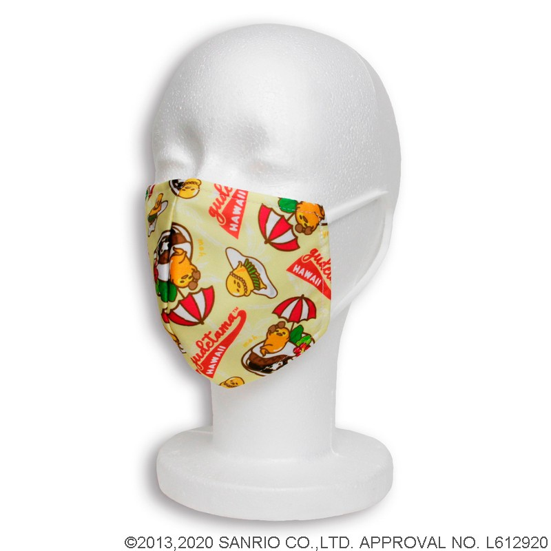 【SOLD OUT】接触冷感マスク ハワイアンロコモコぐでたま