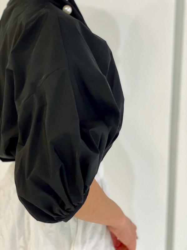 BIgパールブラウス〜半袖
