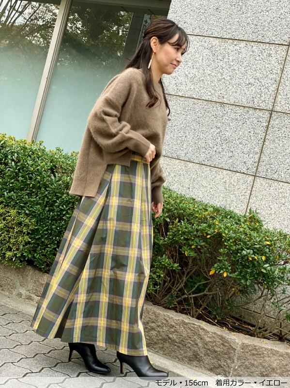タフタチェックスカート〜別注カラー(YW)