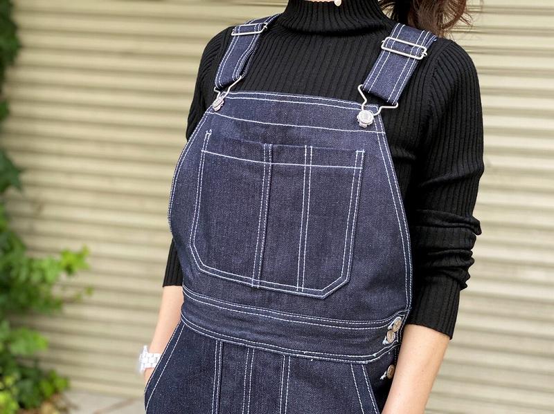 デニムジャンスカ〜white stitch