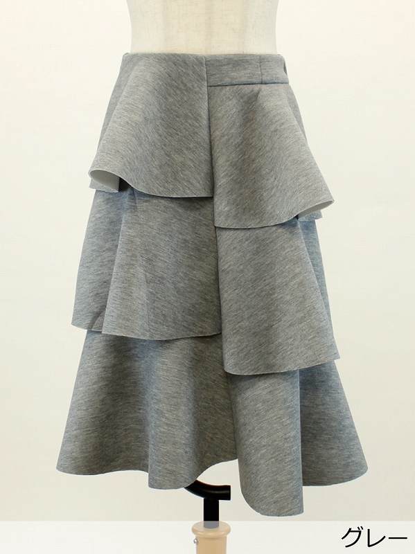 フリルフリルボンディングスカート