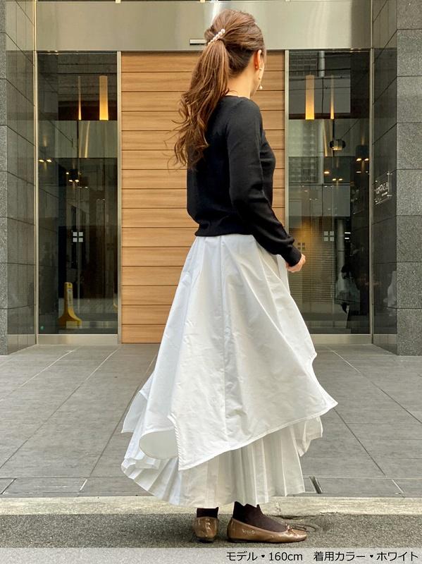 プリーツレイヤードスカート