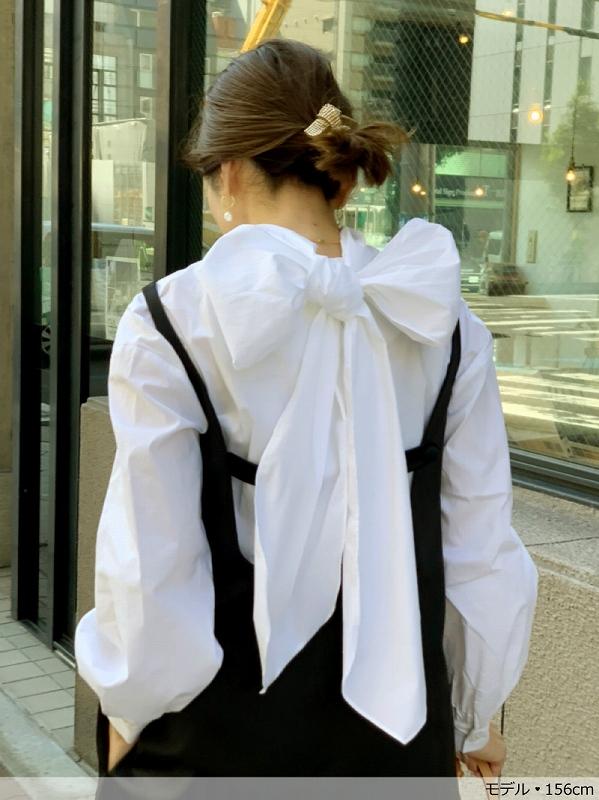 ribbonシャツブラウス