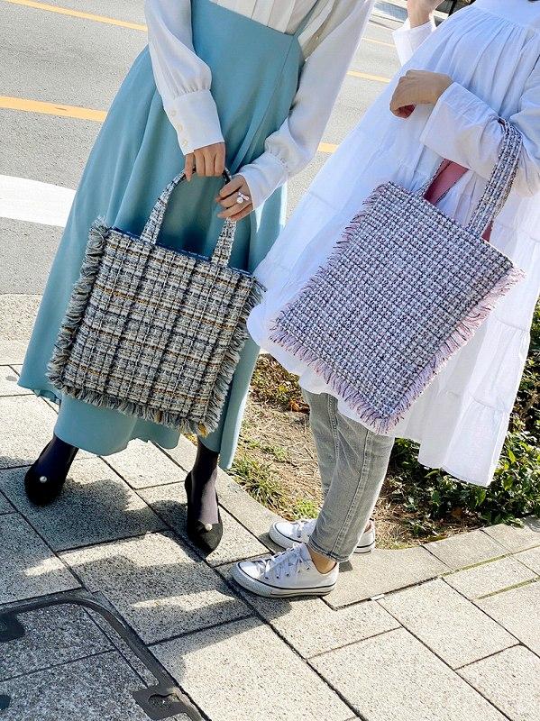 tweed bag(pink)