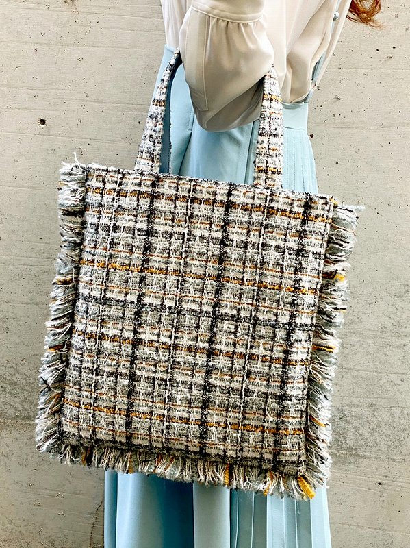 tweed bag(mint)