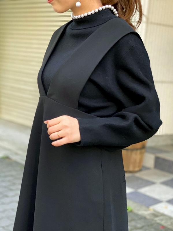 Vネックスタイリッシュワンピース〜short丈