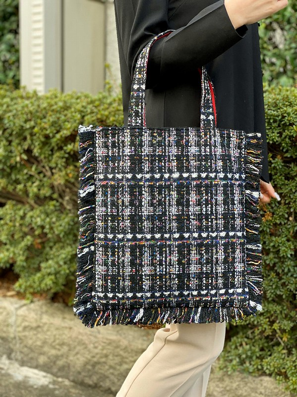 tweed bag(mix black)
