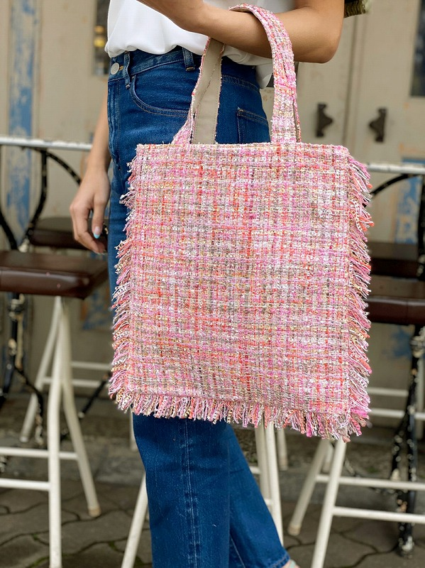 tweed bag(pink×beige)