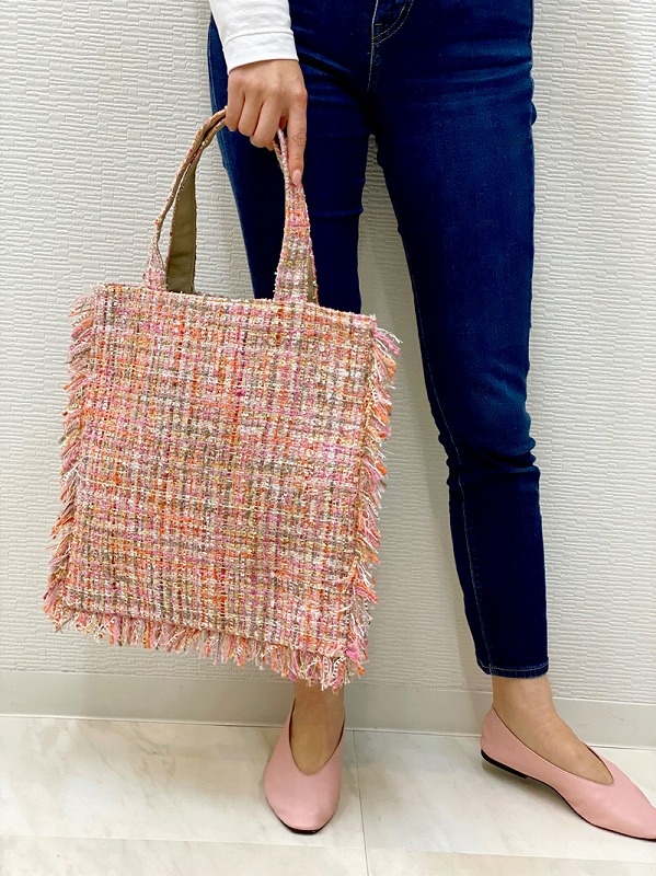 tweed bag(pink×beige)