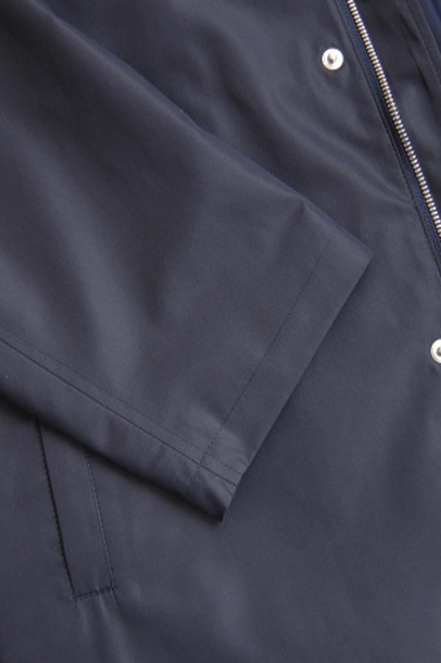 【OUTLET】 ミラショーン メンズコート ハーフコート スプリング オータム レインコート ネイビー フード 46(M) 48(L) 50(LL)