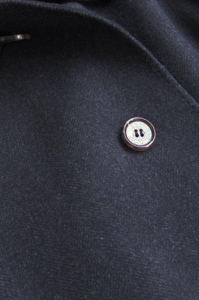 【OUTLET】 ミラショーン メンズコート ステンカラー ミドルコート ベルト付き アニオナ社素材 イタリアインポート ネイビー 46(M) 48(L) 50(LL) T841