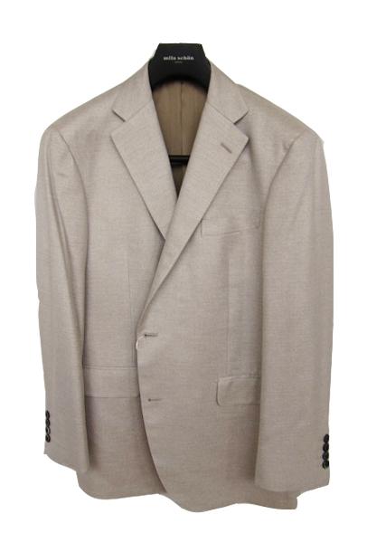 【OUTLET】 ミラショーン メンズジャケット シルク100% ベージュ無地 50R(A7) 44G(BB4) 46G(BB5) 48G(BB6) 50G(BB7) ms01