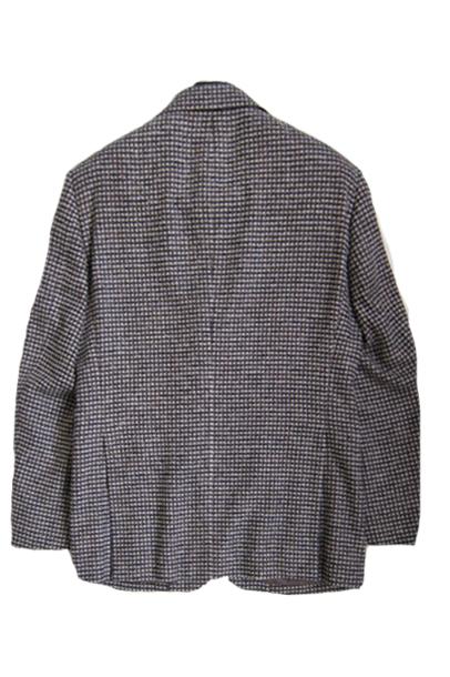 【OUTLET】 ミラショーン メンズジャケット ガンクラブチェック ブラウン アズーロエマローネカラー シルク混 チェルッティ社素材 A7 AB3 AB4 AB5 AB6 AB7 01