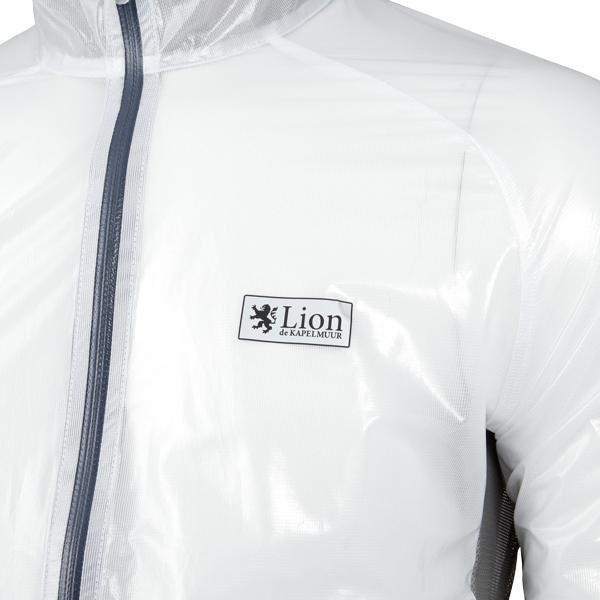 Lion de KAPELMUUR(リオン・ド・カペルミュール)クリアレインジャケット ミスティホワイト