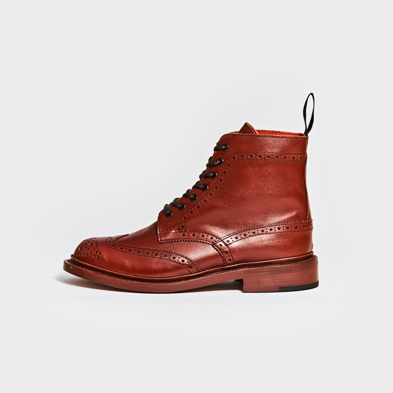 L5676 STEPHY / MARRON ANTIQUE (LEATHER SOLE)