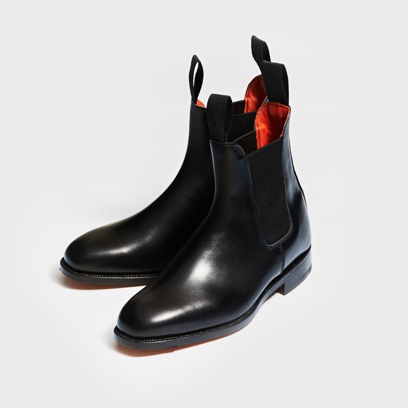 L6119 LILY / BLACK CALF (LEATHER SOLE)
