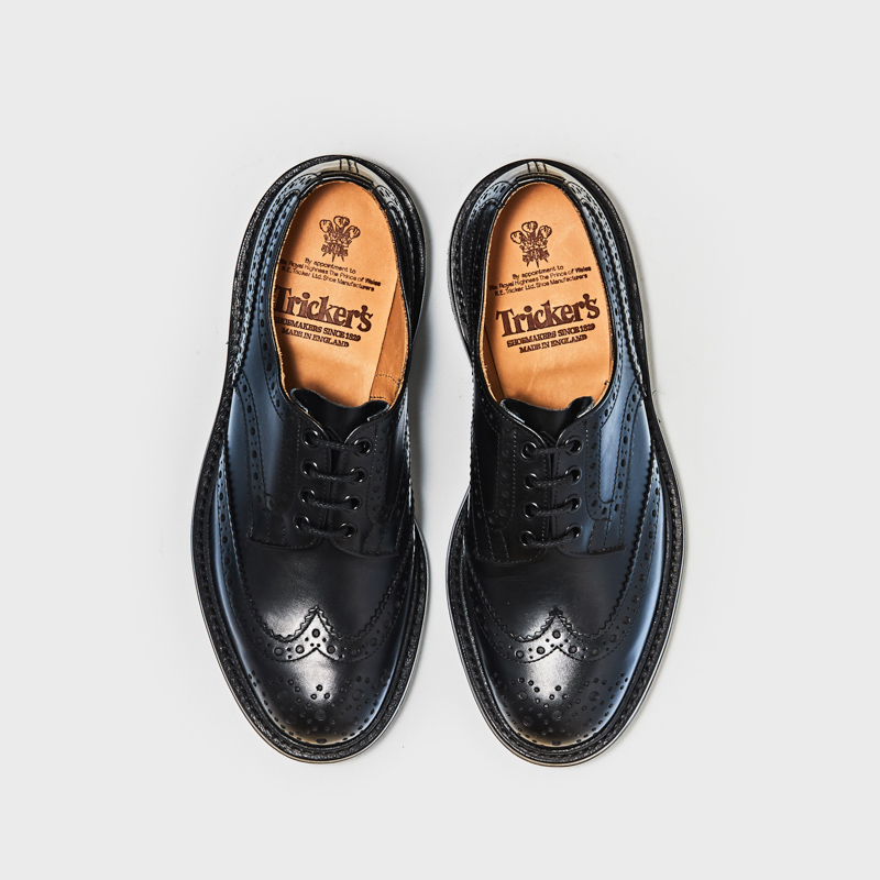 M5633 BOURTON / BLACK CALF (DAINITE SOLE)