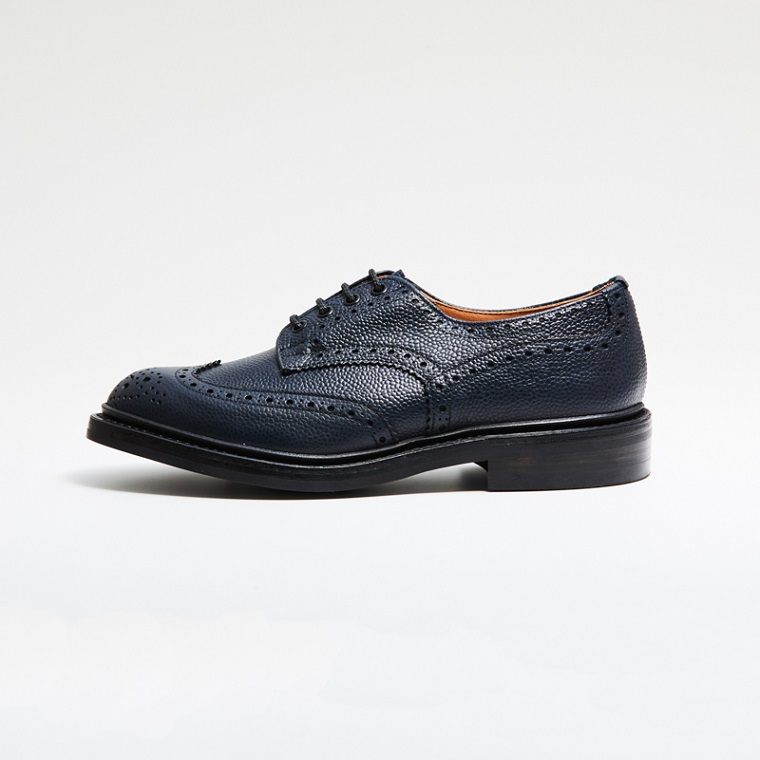 M5633 BOURTON / NAVY SCOTCH GRAIN (DAINITE SOLE)