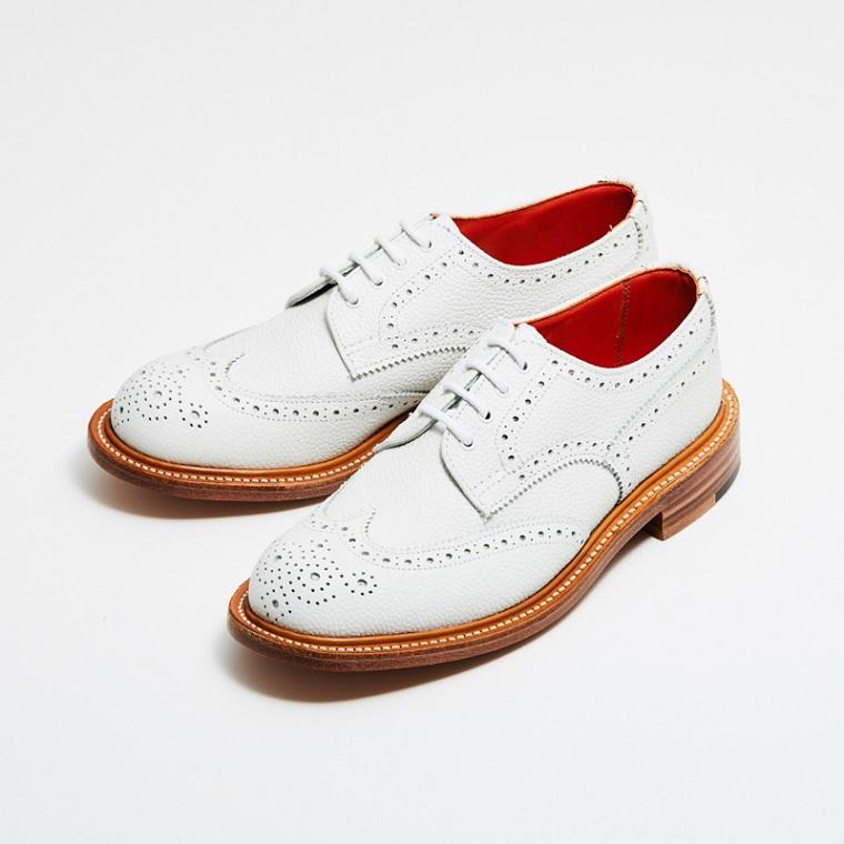 L5679 ANNE / WHITE SCOTCH GRAIN (LEATHER SOLE)