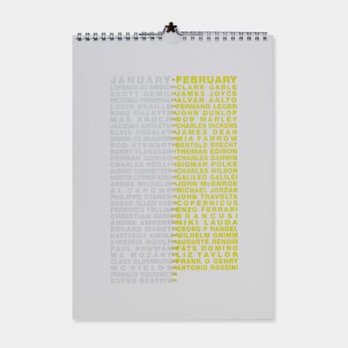 誕生日カレンダー (バースデーカレンダー) 万年タイプ / リチャード・ハッテン