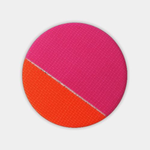 蛍光テープのブローチ オレンジ×ピンク (ネオン・テープ) / レババ