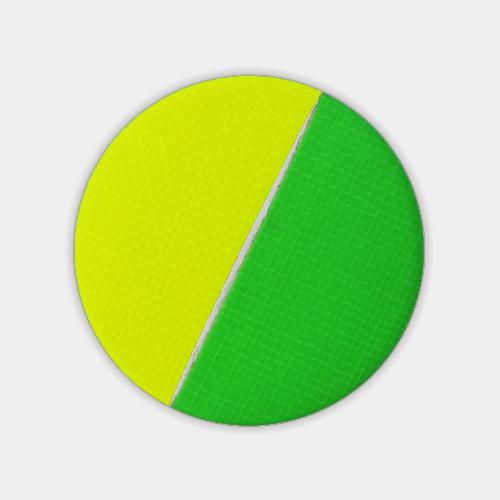 蛍光テープのブローチ グリーン×イエロー (ネオン・テープ) / レババ
