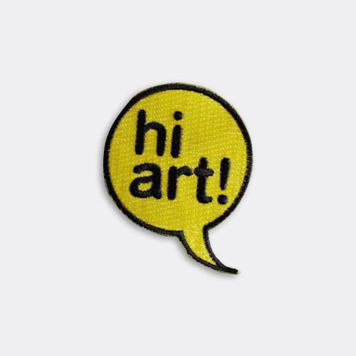 ハイ芸術!刺繍ワッペン「Hi Art」 / サード・ドロア・ダウン