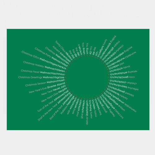 刺繍のポストカード クリスマス / デタイルス・プロドゥクテ + イデーン