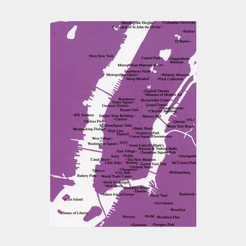 刺繍のポストカード マンハッタン地図 / デタイルス・プロドゥクテ + イデーン