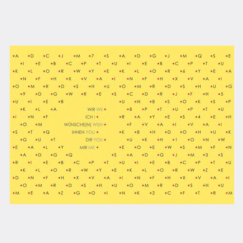 刺繍のポストカード ウィッシュ / デタイルス・プロドゥクテ + イデーン