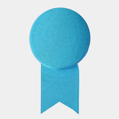 サテンの徽章のブローチ ブルー (メダル) / レババ