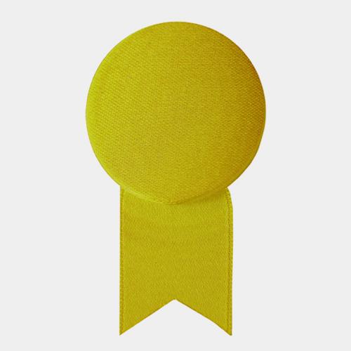 サテンの徽章のブローチ ゴールド (メダル) / レババ