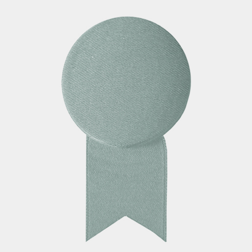 サテンの徽章のブローチ シルバー (メダル) / レババ