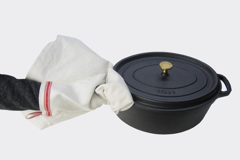 キッチンエプロンウィズミトン&タオル / ラウムゲシュタルト