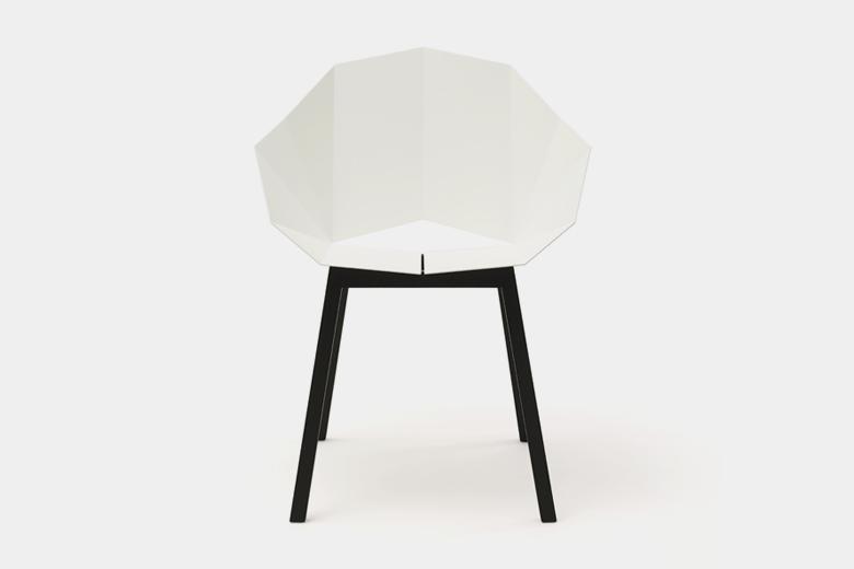 メタルシートと木脚の椅子 ベーシック ホワイト×脚ナチュラルアッシュ / フレデリック・ロイエ