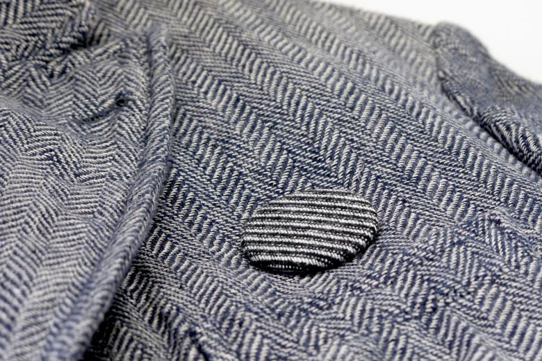 縞々ウールのブローチ (ウール・ストライプ) / レババ
