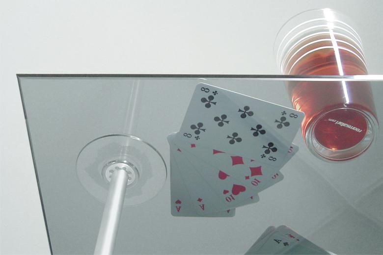 バステーブル+ガラス天板 / ルームサファリ