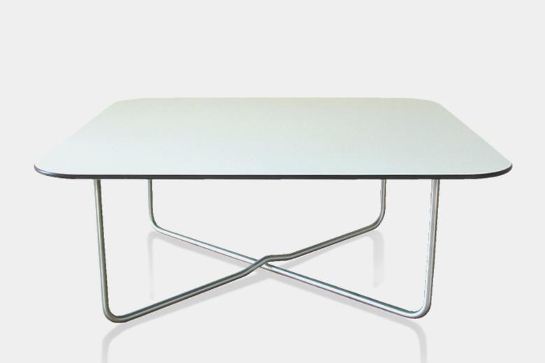 バステーブル+グレー柄ホワイトリバーシブル天板 / ルームサファリ
