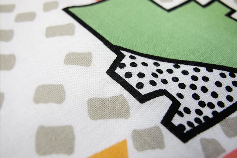 綿100%のテーブルナプキン ブロック柄 / ナタリー・ドゥ・パスクエ