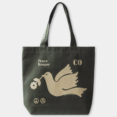 「平和を保つ人」トートバッグ / デザイン・アゲインスト・トレンド