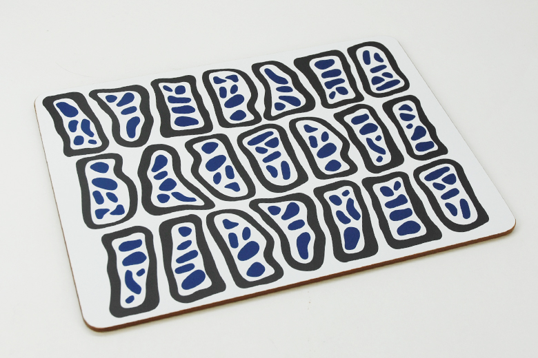 食卓プレイスマット 4柄セット リフレッシングブルー / ナタリー・ドゥ・パスクエ
