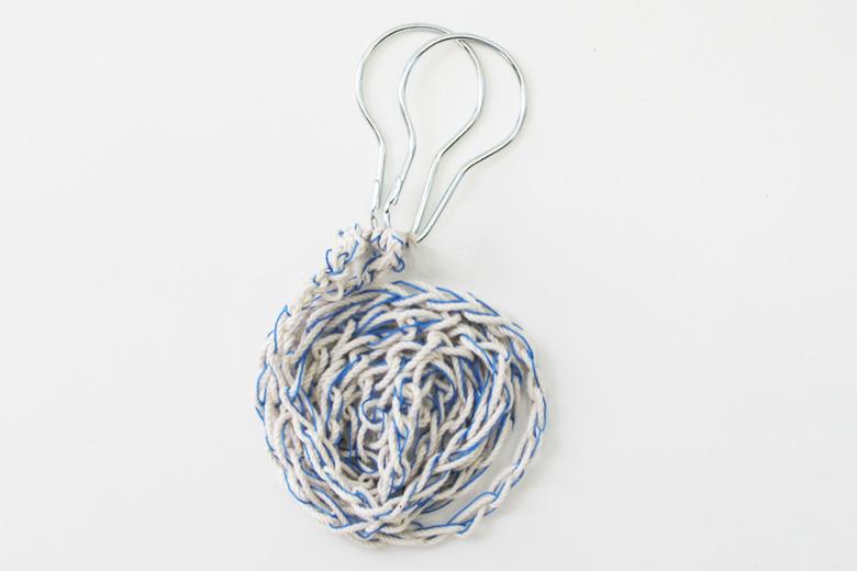ハンガーペグ用の吊下ロープ ブルー (ハンガーペグ・ロープ) / バブーシュカ・カルテット
